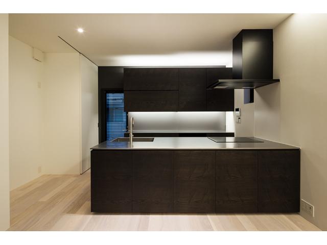 東京/港区|木造軸組工法 キッチン正面