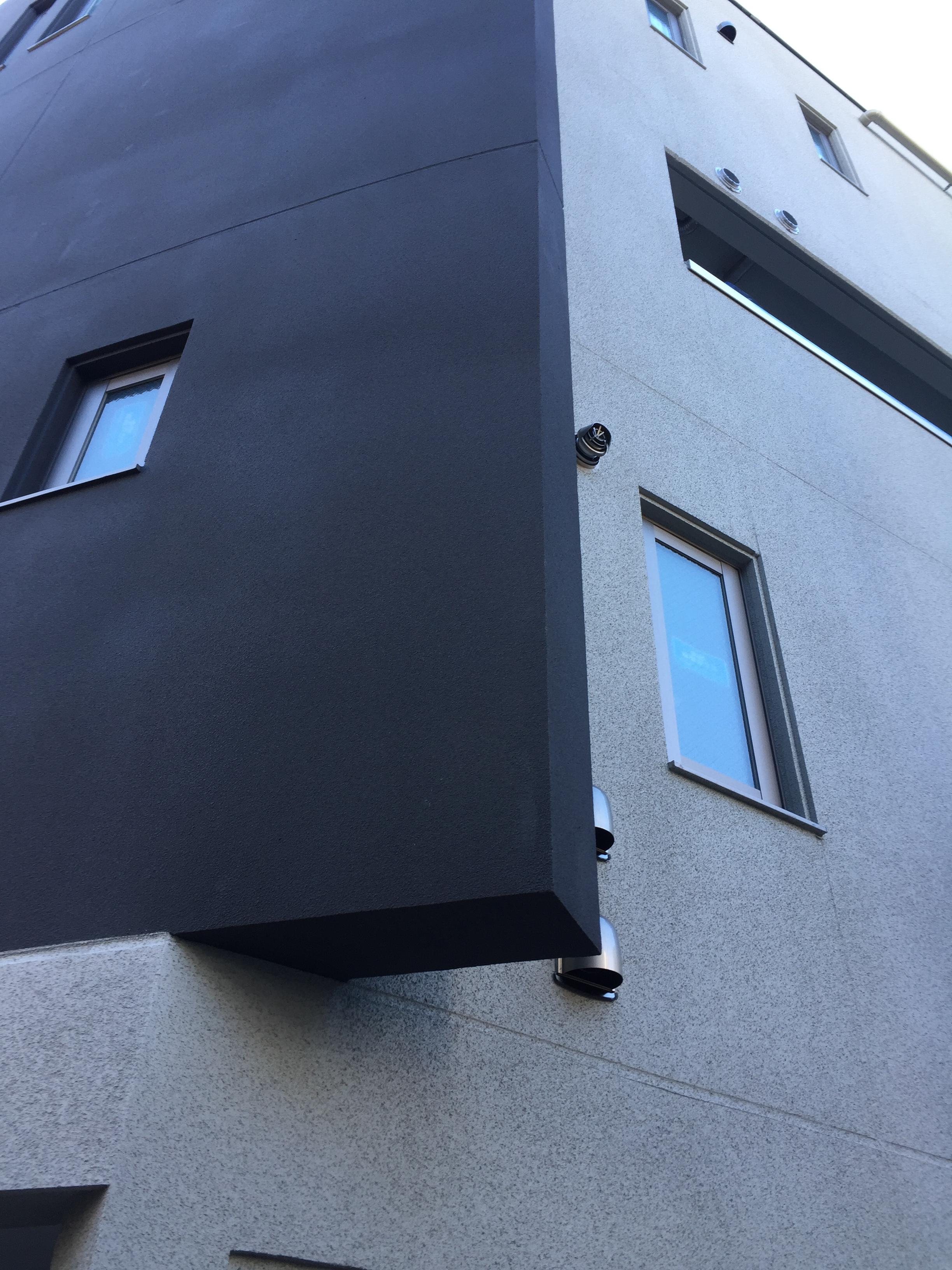 足場が外れ外観が露わに 豊島区賃貸マンション建築現場見学11 工房
